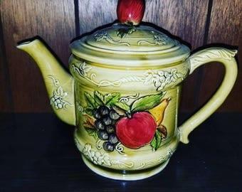 Pear & Apple Teapot BY LEFTON CIRCA 1950S #3741