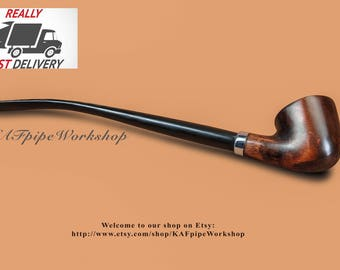 Gandalf pipe/Smoking pipe KAF218/Tobacco pipe/Lord of the Rings/Churchwarden pipe/Hobbit pipe/Wizard pipe/Long stem pipe/Handmade pipe/pipa