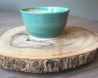 Light Green & White Small Bowl