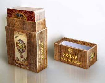 SALE -20%! Russian Lubok Tarot. A unique collectible Tarot Deck with durable premium quality box.