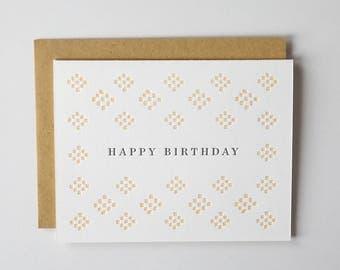 Happy Birthday Letterpress Greeting Card