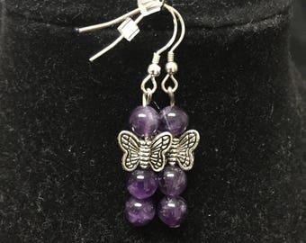 Flights of Purple Earrings