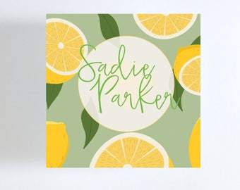 Lemons Gift Tag or Calling Card