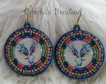 Free Spirit - Native American beaded earrings
