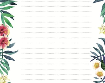LITTLE PAPER LANE Letter Writing Set- Tropical