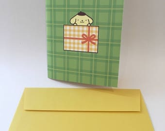 Pompompurin Pop Up Thank You Card with envelope