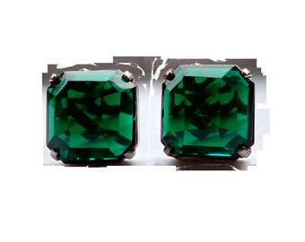 Industria Argentina Emerald Green Earrings