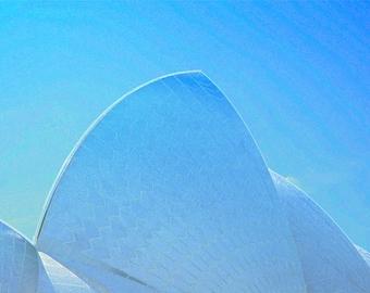 LARGE Opera House 4 Shells A3 print - Digital Art