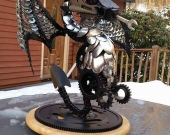 Metal art dragon