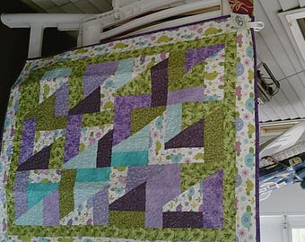 Scrap Happy Turtle Baby Quilt