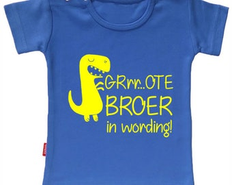 T-shirt GRrr ... ote brother in the making. Pregnancy announcement. I am big brother/sister shirt.