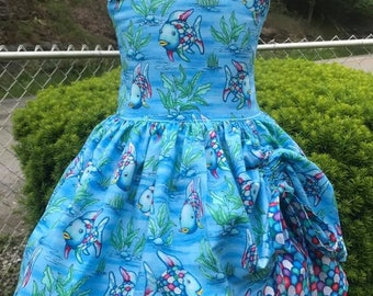 Rainbow Fish peekaboo dress