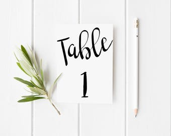 Table numbers 1-30, Table numbers pdf, 4x6 table numbers, Numbers printable pdf, Table numbers print