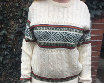 Ugly Christmas Sweater- Geometric, Knit, Jumper, Pullover, Vintage, Retro, 80s, 1980s