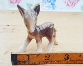 Cute little vintage donkey figurine. 1950s/60s