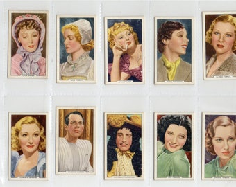 """Full set of 48 """"My Favourite Part"""" Cigarette Cards from 1939"""