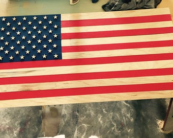 Custom Wooden Flags that are made to order, all color combinations, quality you won't find anywhere else!