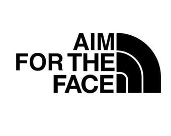 "Vinyl decal sticker ""Aim For The Face"" 2A Pew Pew"