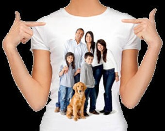 T-shirt perfect gift on any occasion, customizable with photo and text of your choice. oraculojoel@gmail.com