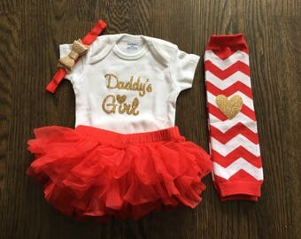 Baby Girl Clothes, Baby Shower Gift, Take Home Outfit Girl, Daddy's Girl, Daddy's Little Girl, Coming Home Outfit, Baby Take Home