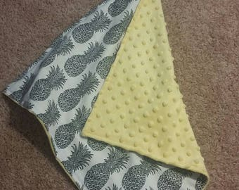 Pineapple Lovey Security Blanket