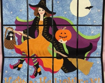 Embroidered Happy Halloween Wall Hanging