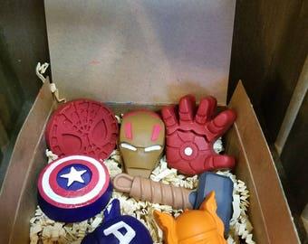 Marvel Avengers custom crayon Box set