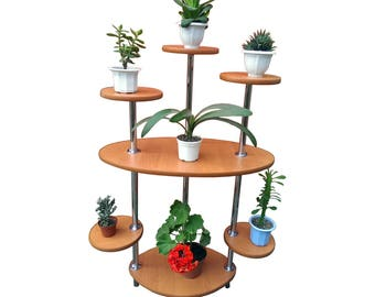 "Free ship! Plant stand ""L2"". Flower stand Indoor plant stands Plant holder Plant table Stand for flowers Flower shelf Planter Wooden planter"