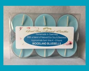 Woodland Bluebells Soy Tea Lights