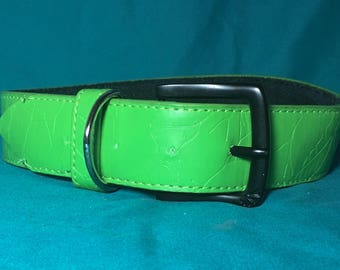 Pupcycled Upcycled Green Large Dog Collar