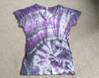 Purple & black swirl
