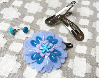 Flower Hair Clip- Periwinkle