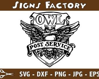 Owl Post Service svg eps jpg png dxf logo Harry Potter Images Digital Instant Download Graphics Instant Download Graphics cutting file