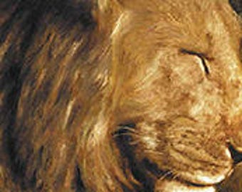 Lion Painting on Canvas, Paintings of lions, Lion Oil Painting on Board, Lion Head Painting, Nature Wildlife Paintings Catherines Studio Art