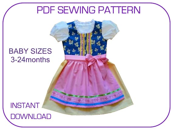 Baby Girl Dirndl pdf sewing pattern