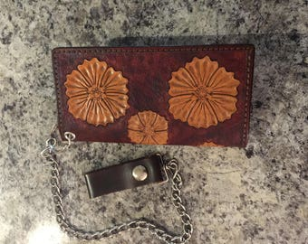 Skulls, Flowers, and Tophats Chain Wallet