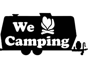 We <3 Camping - Decal
