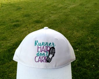Runner hair don't care adult sized hat