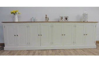 New Solid Pine 9ft Painted Sideboard/Welsh Dresser Base Unit In Any F&B Colour