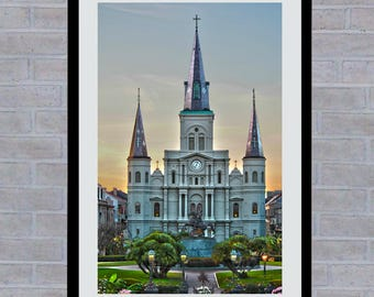 St. Louis Cathedral, Jackson Square, New Orleans, Printable Wall Art