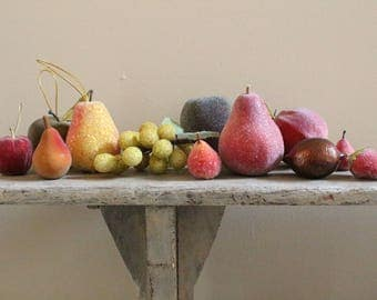 12 pc. Set of Fruit Decorations and Ornaments