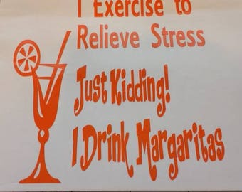 Exercise drinking decal