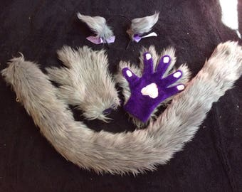 Cat Ears, Paws, and Tails Medium/Cosplay Cat Set