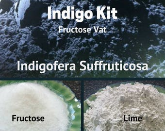 Indigo Kit Fructose Vat Indigofera Suffruticosa - Natural Dyes -