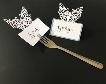 Ornate Butterfly Place Card