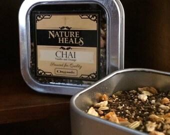 Chai Tea with Vanilla and Orange - Petite Tin