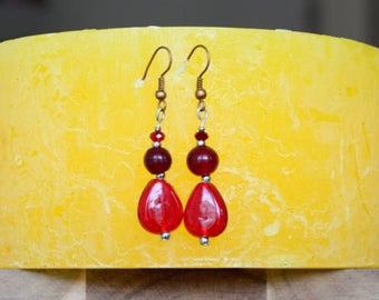 Red Passion - Earings
