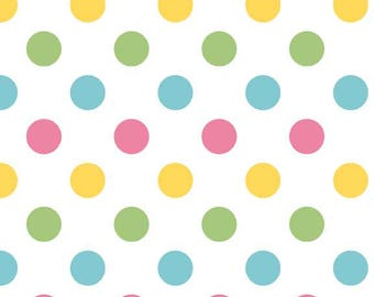Girl Polka Dot Cotton Fabric - Riley Blake Fabrics - Perfect for Nursery, Clothing, and Quilts