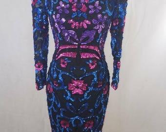 SALE* Vintage Sequin Dress by Nadine