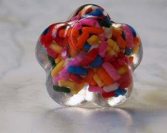 Flower sprinkle ring